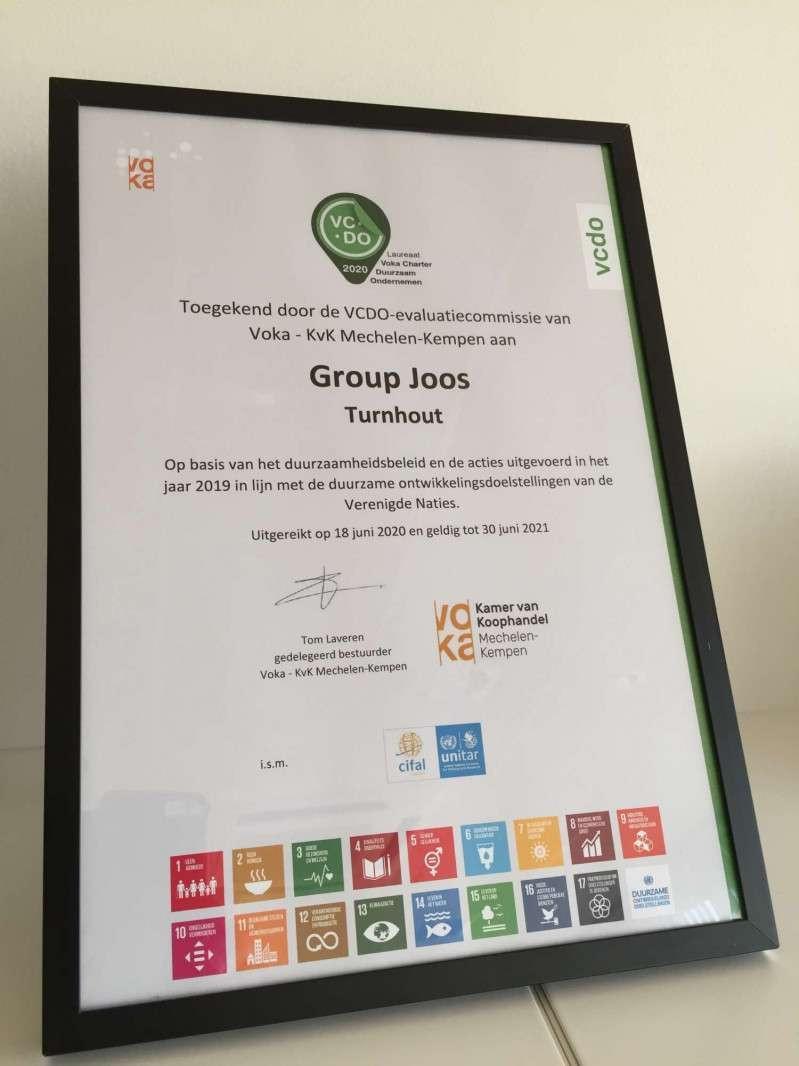 Group Joos SDG Voka Charter